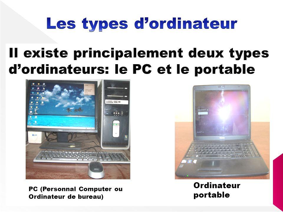 Les types d'ordinateur