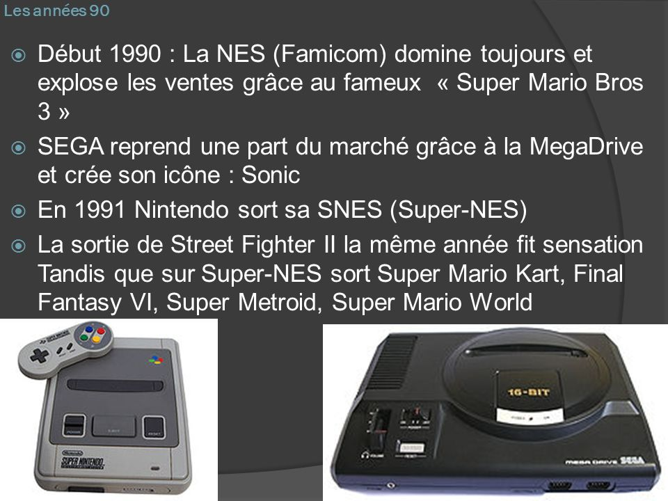En 1991 Nintendo sort sa SNES (Super-NES)