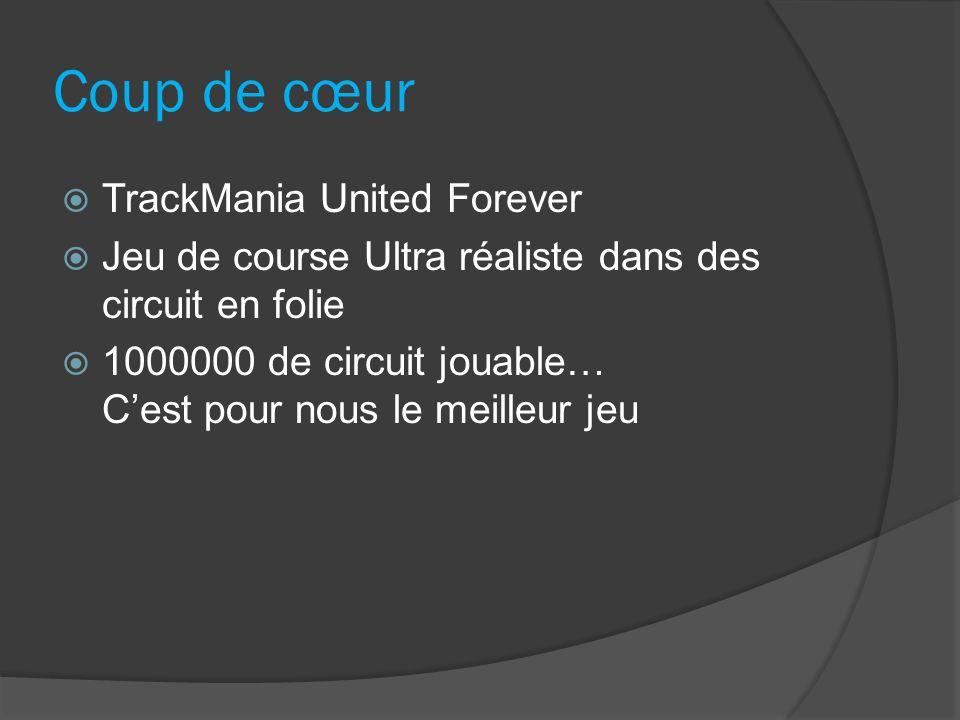 Coup de cœur TrackMania United Forever