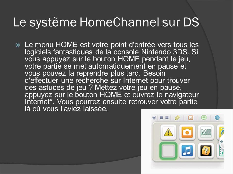 Le système HomeChannel sur DS