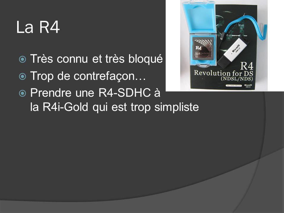 La R4 Très connu et très bloqué Trop de contrefaçon…
