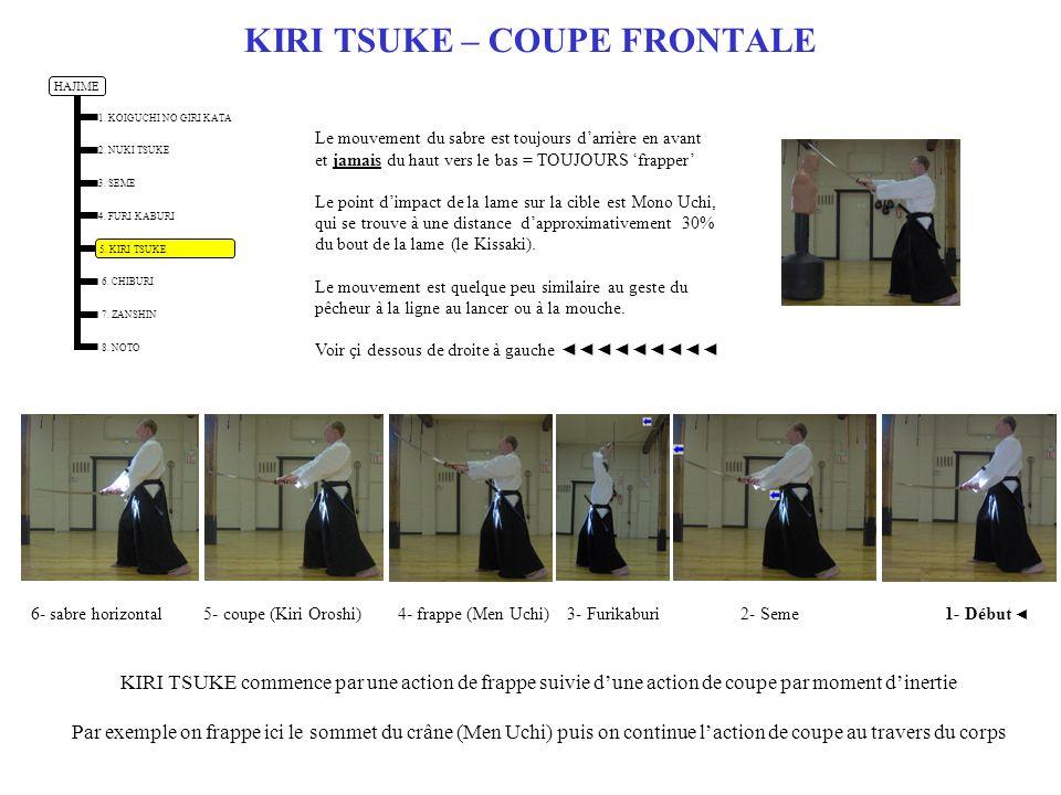 KIRI TSUKE – COUPE FRONTALE