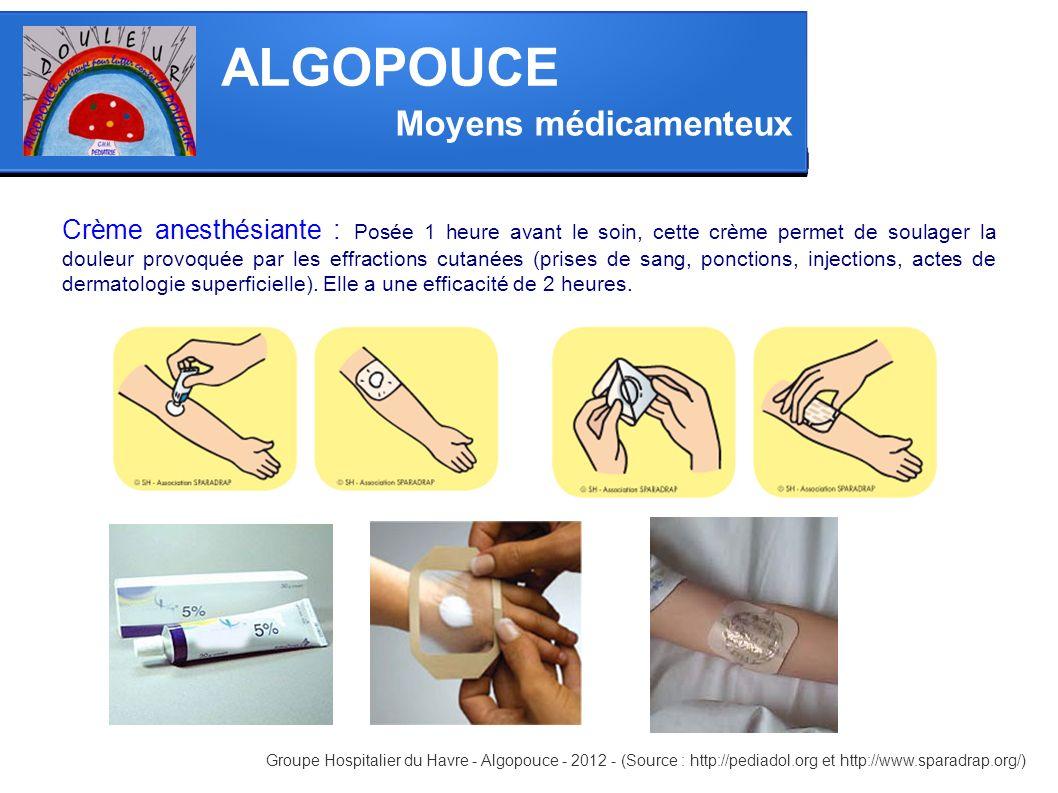 ALGOPOUCE Moyens médicamenteux