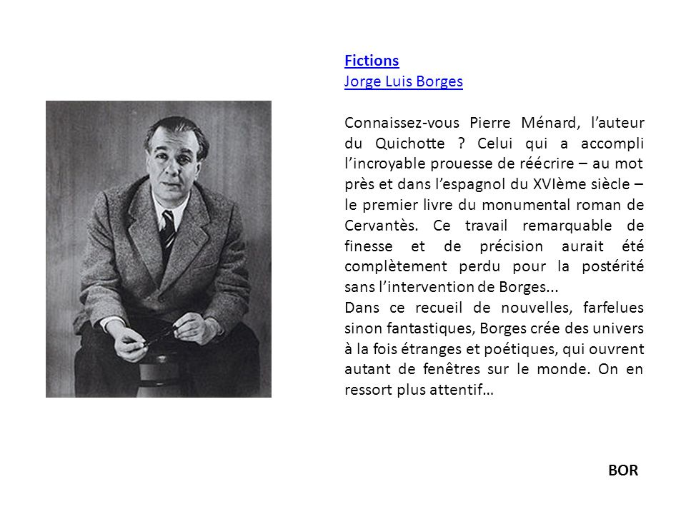 Fictions Jorge Luis Borges.