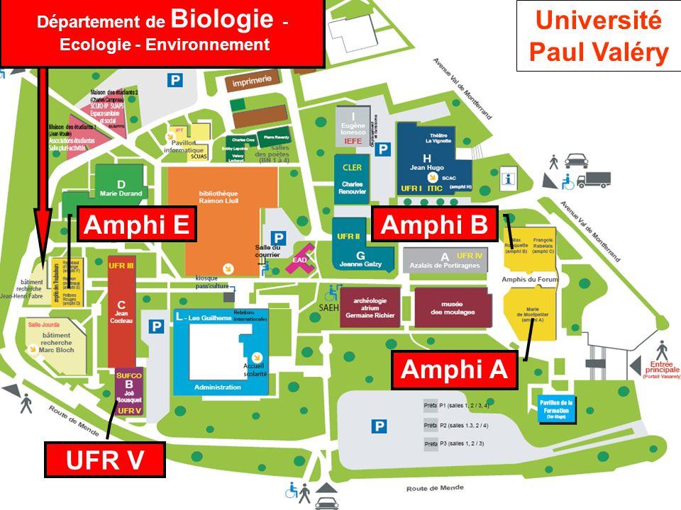 Département de Biologie - Ecologie - Environnement