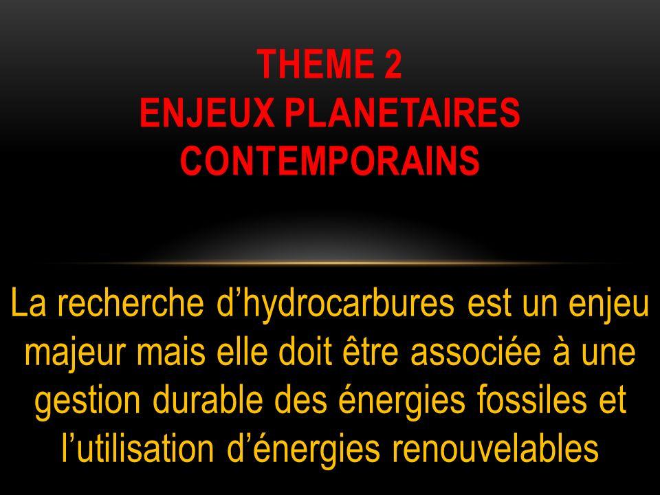 THEME 2 enjeux planetaires contemporains
