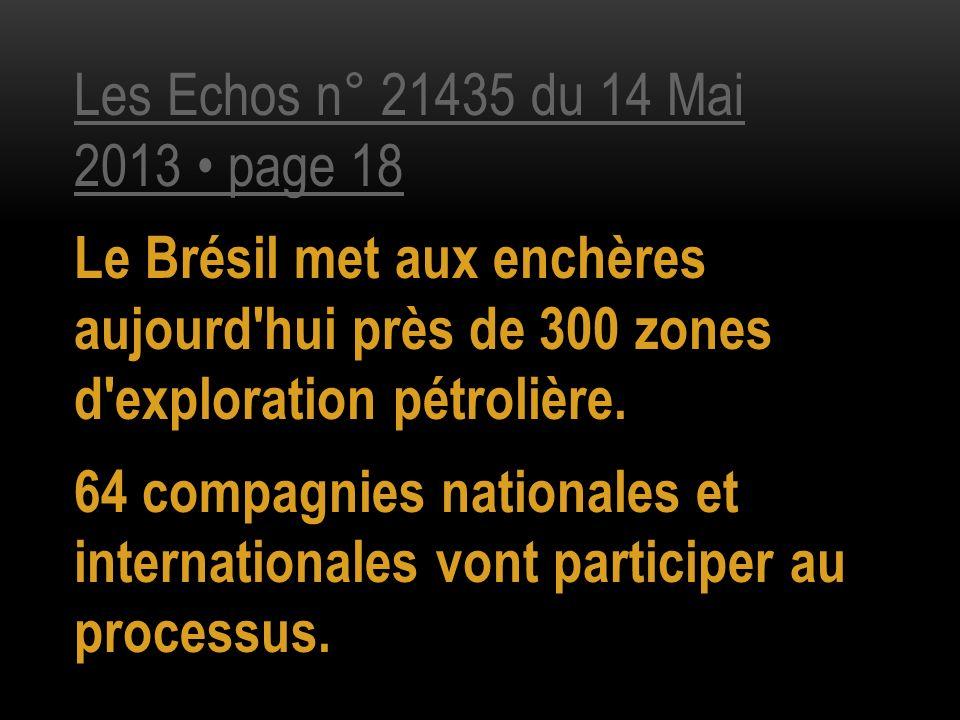 Les Echos n° 21435 du 14 Mai 2013 • page 18