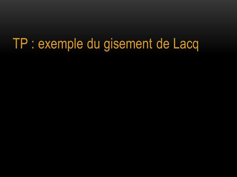 TP : exemple du gisement de Lacq