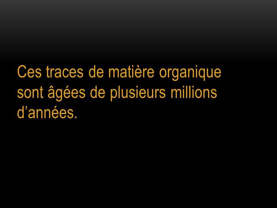 Ces traces de matière organique sont âgées de plusieurs millions d'années.