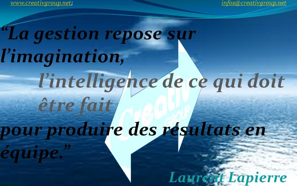 La gestion repose sur l'imagination,