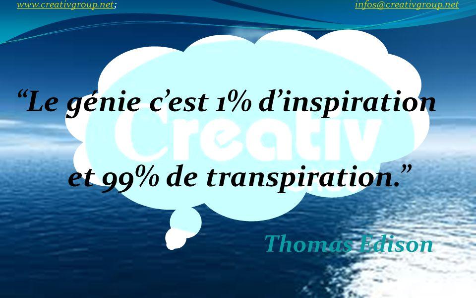 Le génie c'est 1% d'inspiration