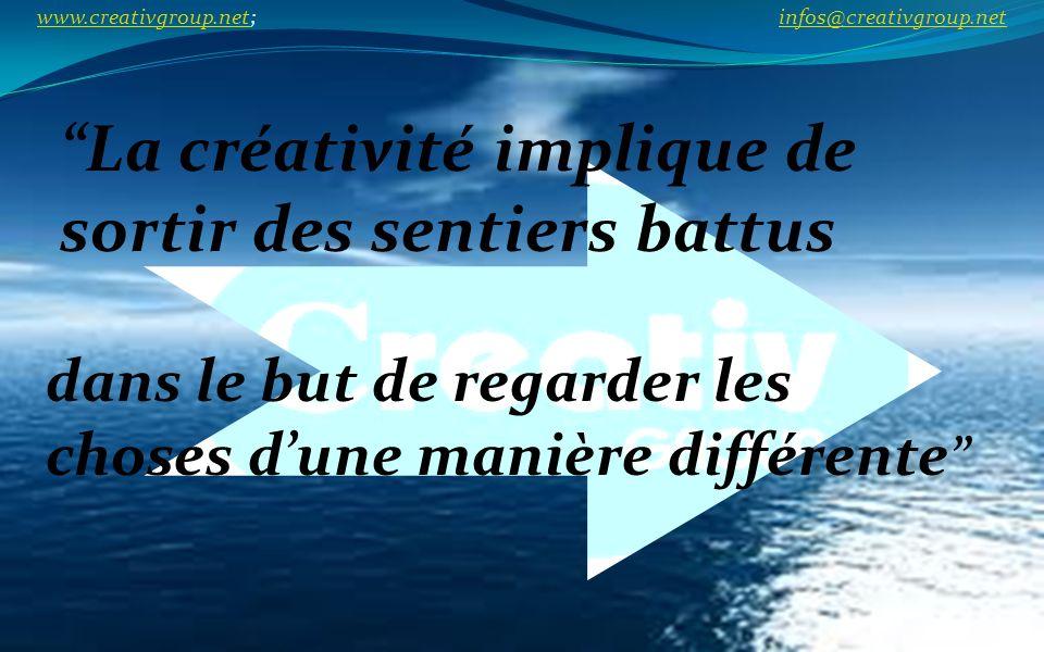 La créativité implique de sortir des sentiers battus