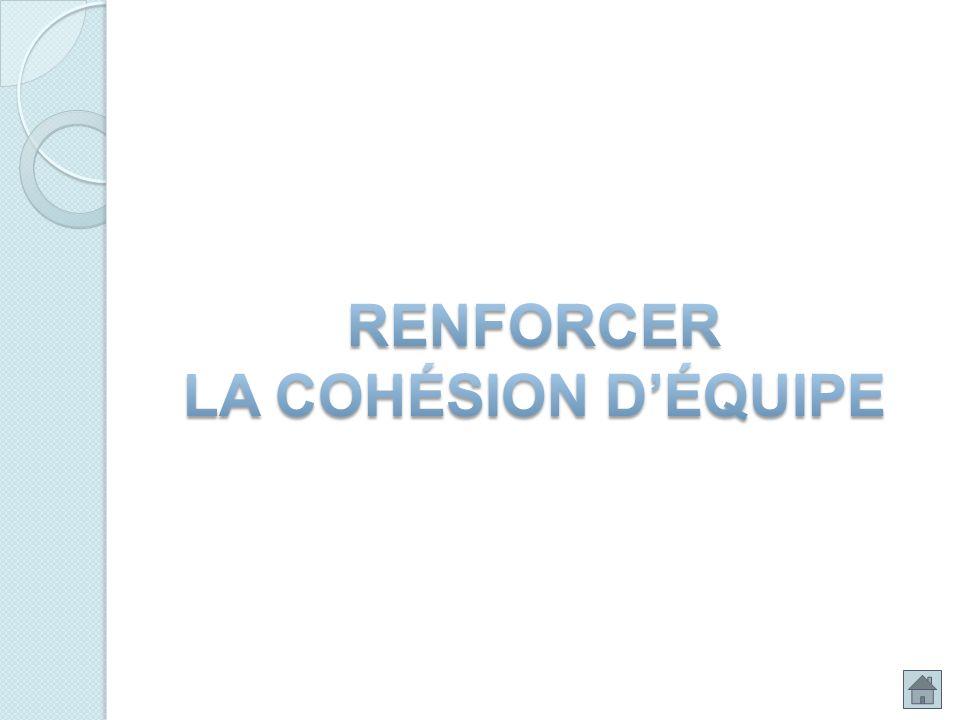 RENFORCER LA COHÉSION D'ÉQUIPE