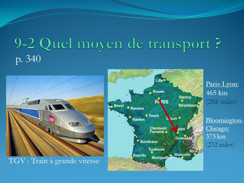 9-2 Quel moyen de transport
