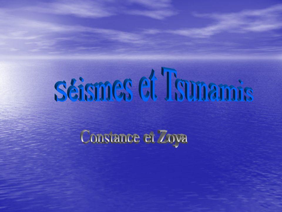 Séismes et Tsunamis Constance et Zoya