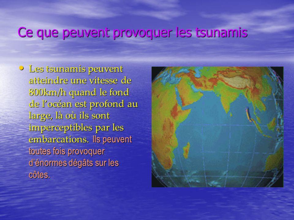 Ce que peuvent provoquer les tsunamis