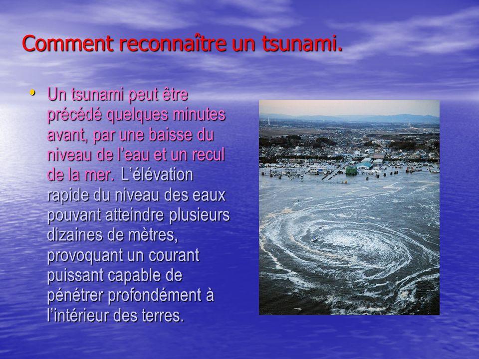 Comment reconnaître un tsunami.