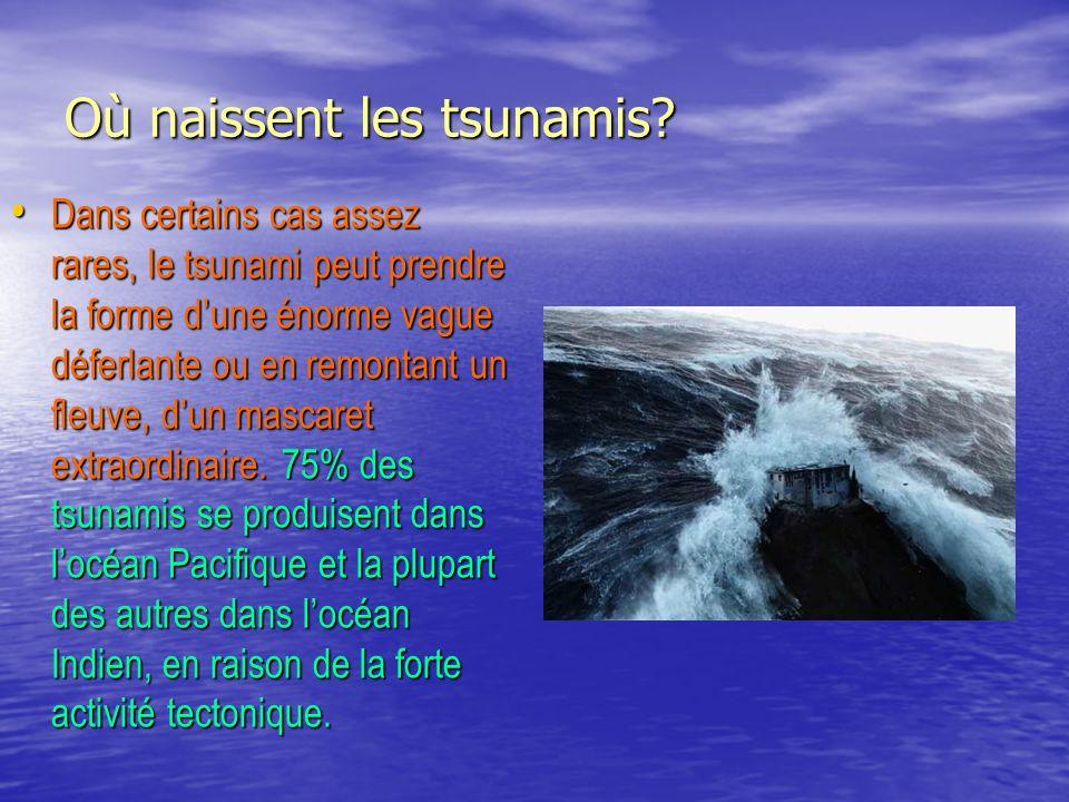 Où naissent les tsunamis