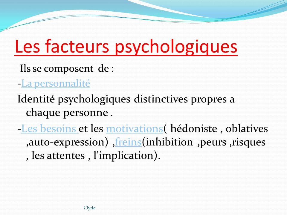 Les facteurs psychologiques