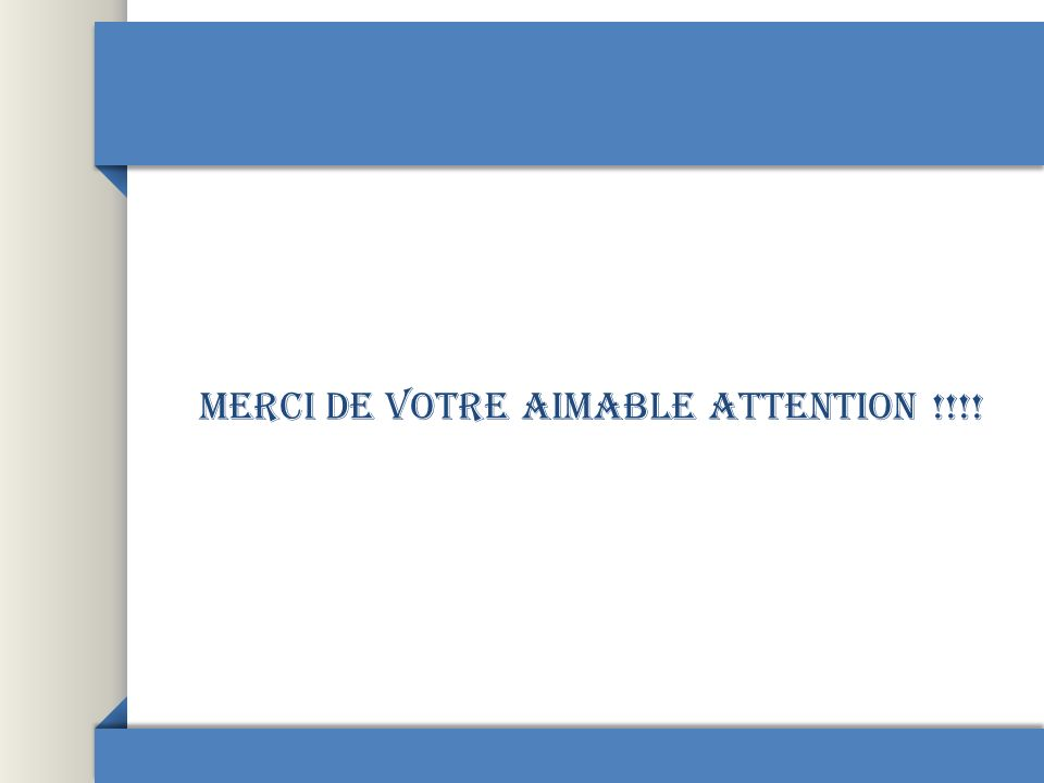 Merci de votre aimable attention !!!!