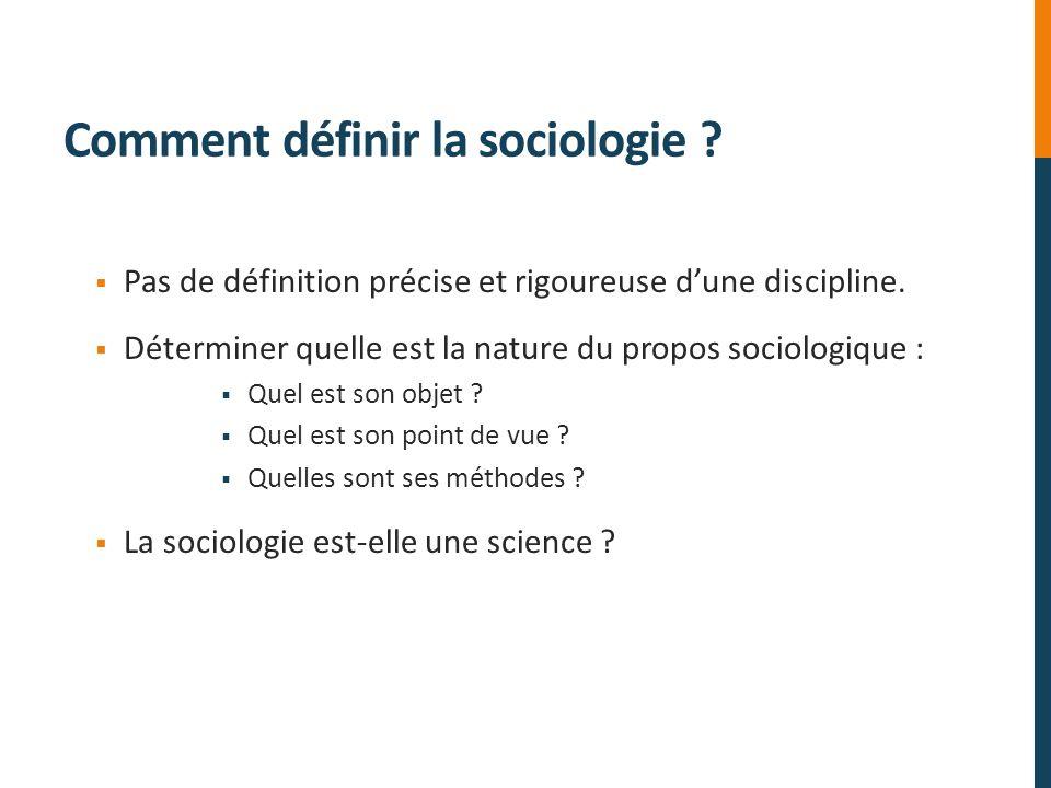 Comment définir la sociologie