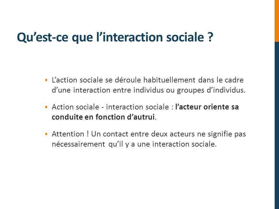 Qu'est-ce que l'interaction sociale