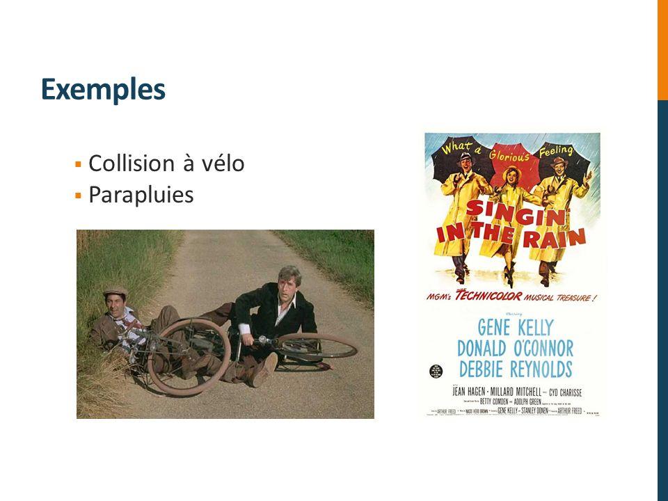 Exemples Collision à vélo Parapluies