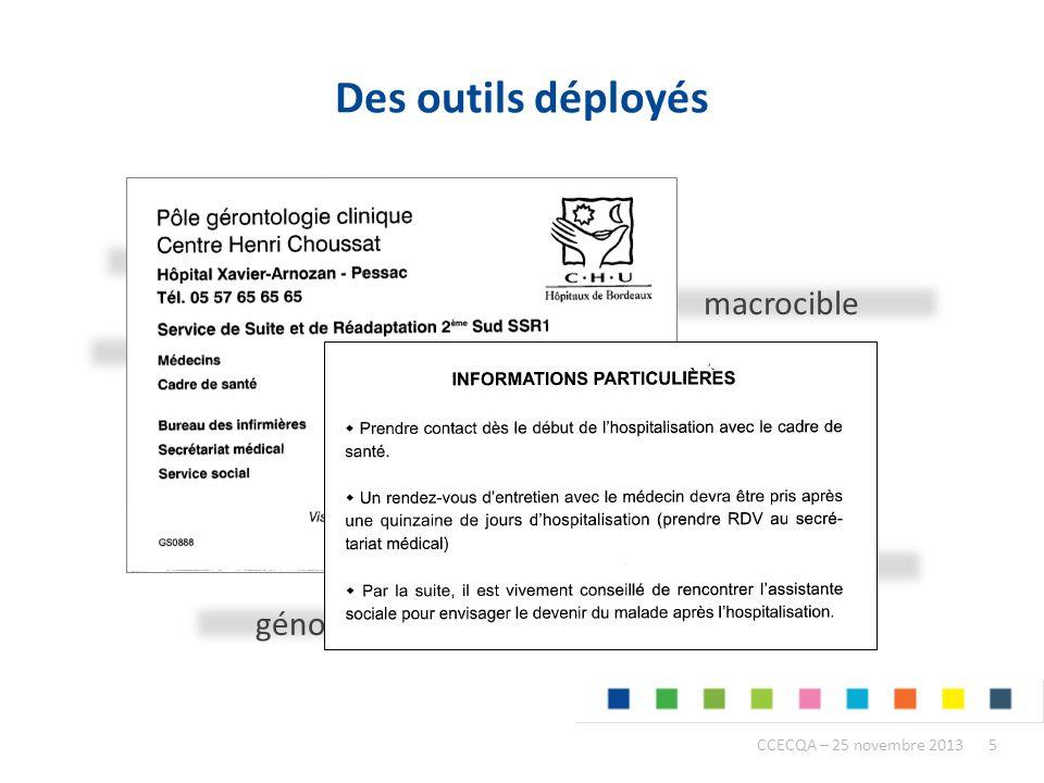 Des outils déployés check-list de sortie formation macrocible