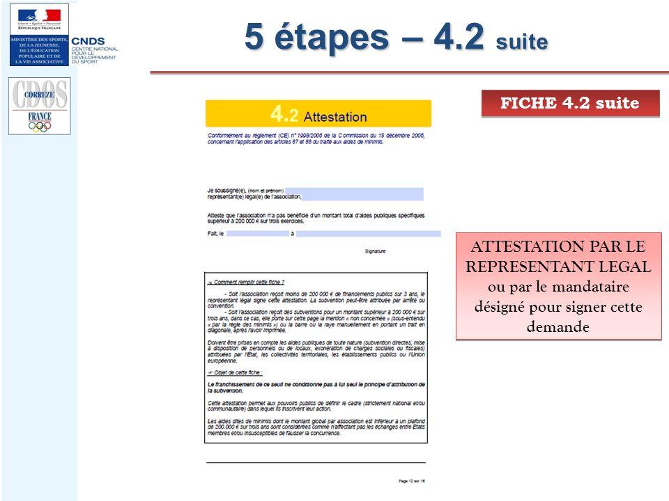 5 étapes – 4.2 suite FICHE 4.2 suite