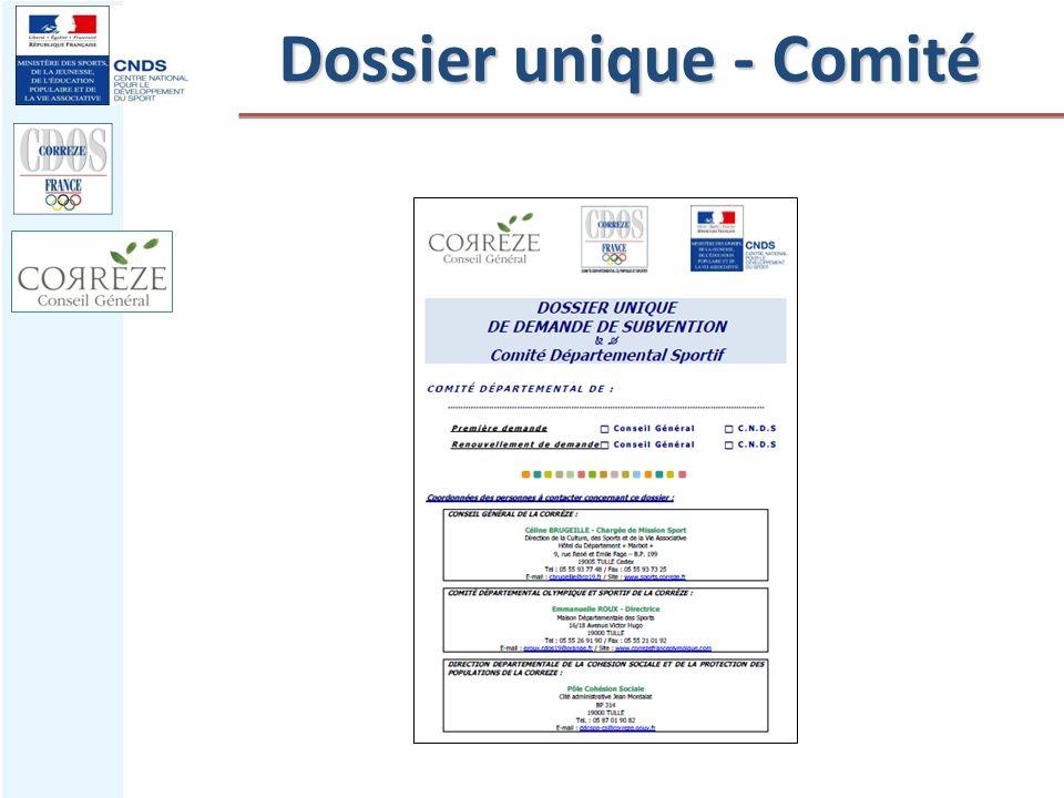 Dossier unique - Comité