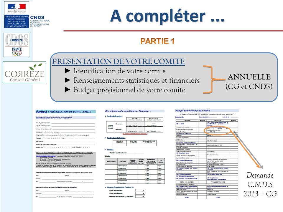 A compléter ... PRESENTATION DE VOTRE COMITE