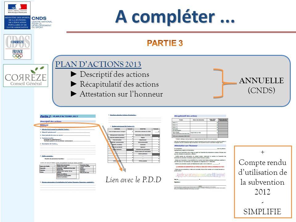 Compte rendu d'utilisation de la subvention 2012