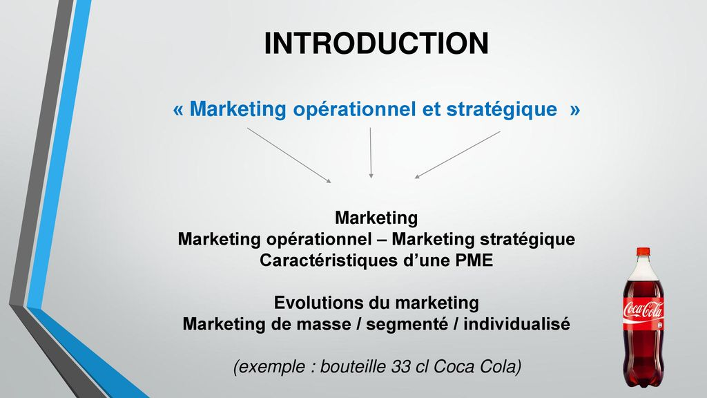 INTRODUCTION « Marketing opérationnel et stratégique » Marketing