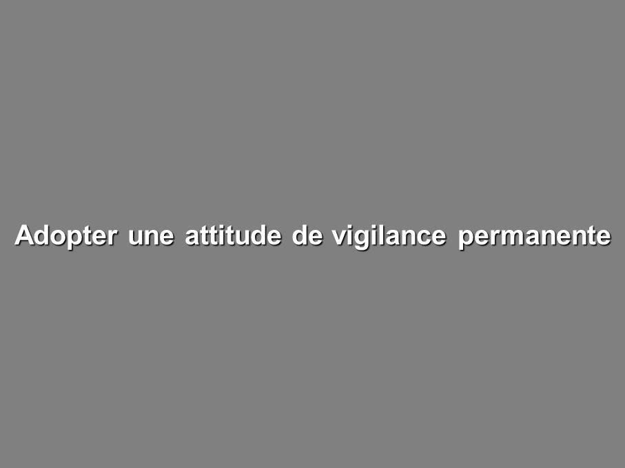 Adopter une attitude de vigilance permanente