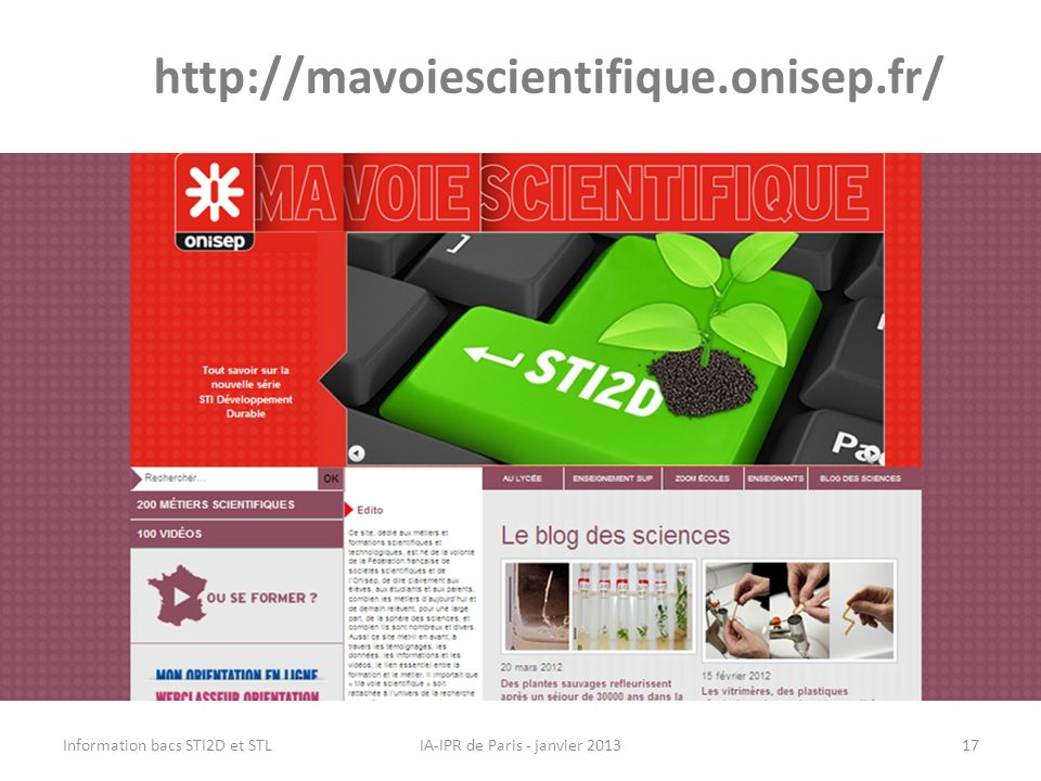 IA-IPR de Paris - janvier 2013