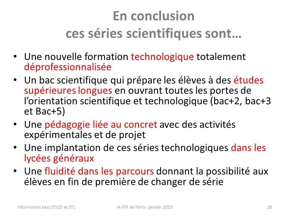 En conclusion ces séries scientifiques sont…
