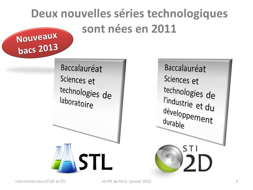 Deux nouvelles séries technologiques sont nées en 2011