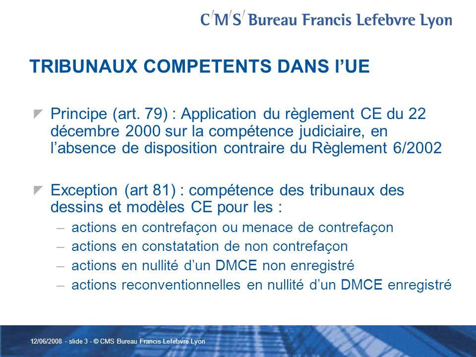 TRIBUNAUX COMPETENTS DANS l'UE