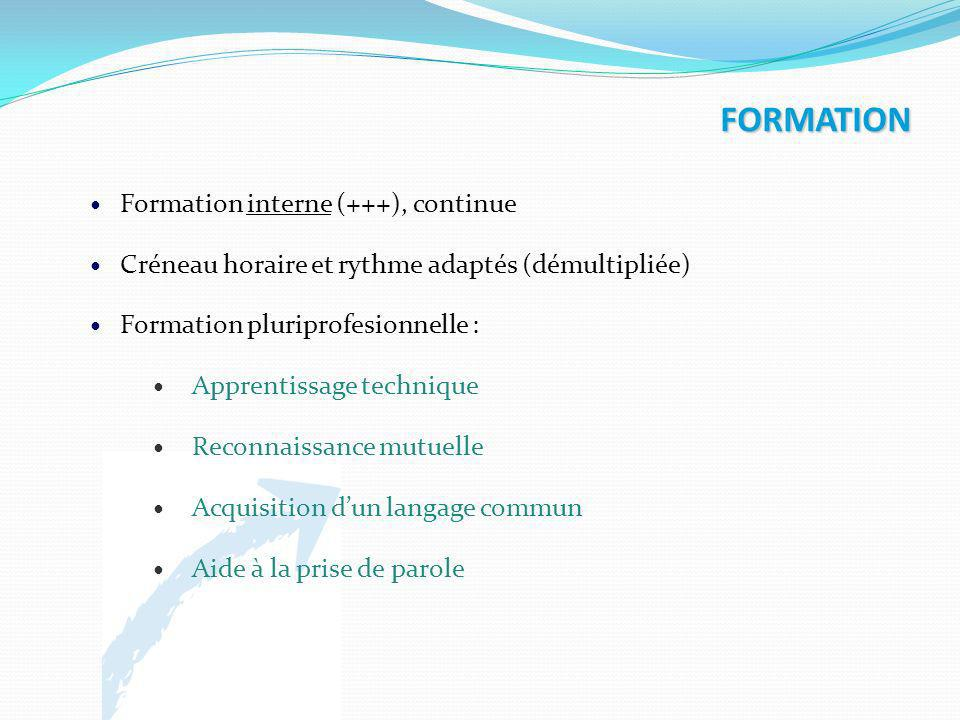 FORMATION Formation interne (+++), continue