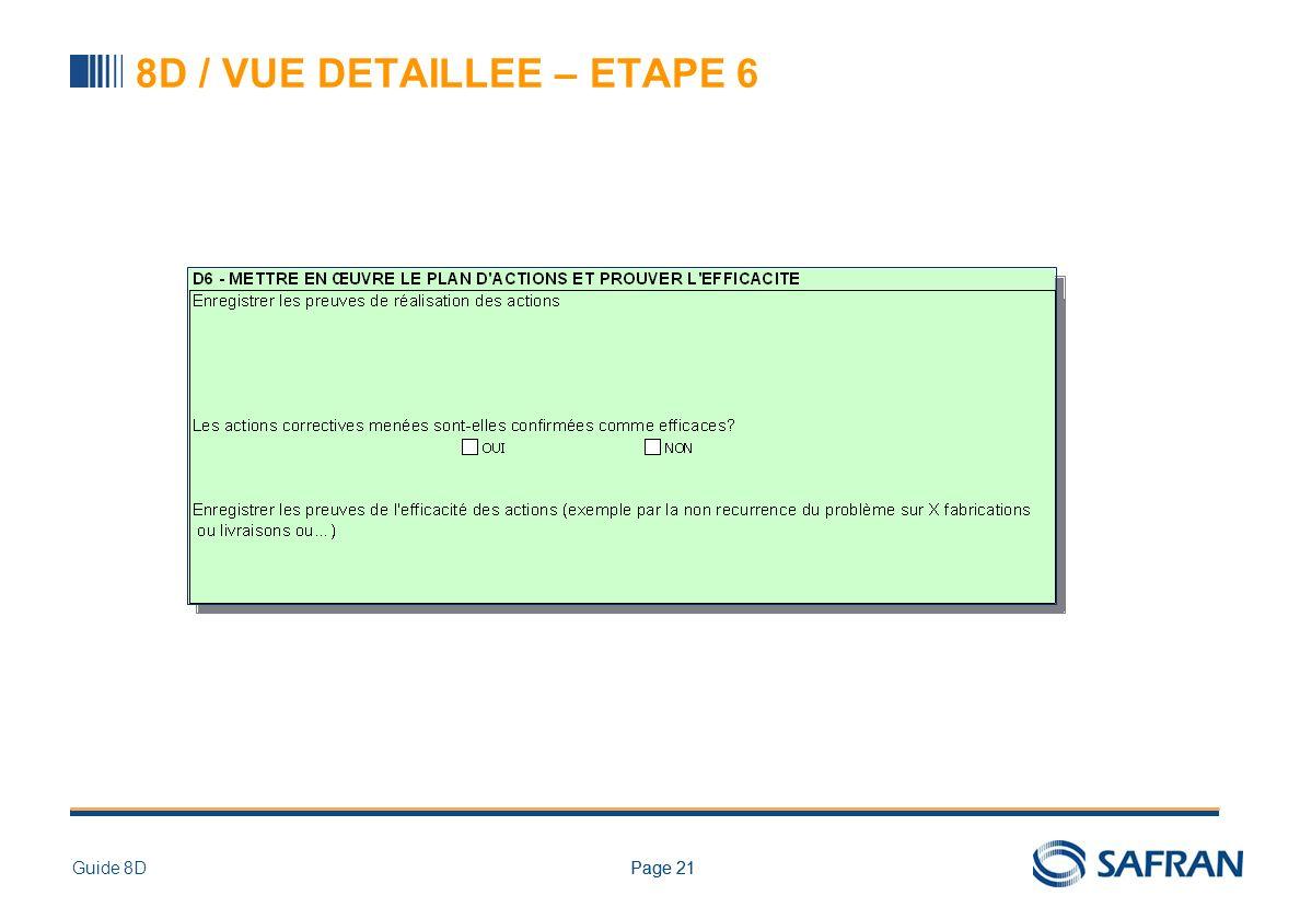 8D / Étape 6 : Mise en œuvre et mesure d'efficacité