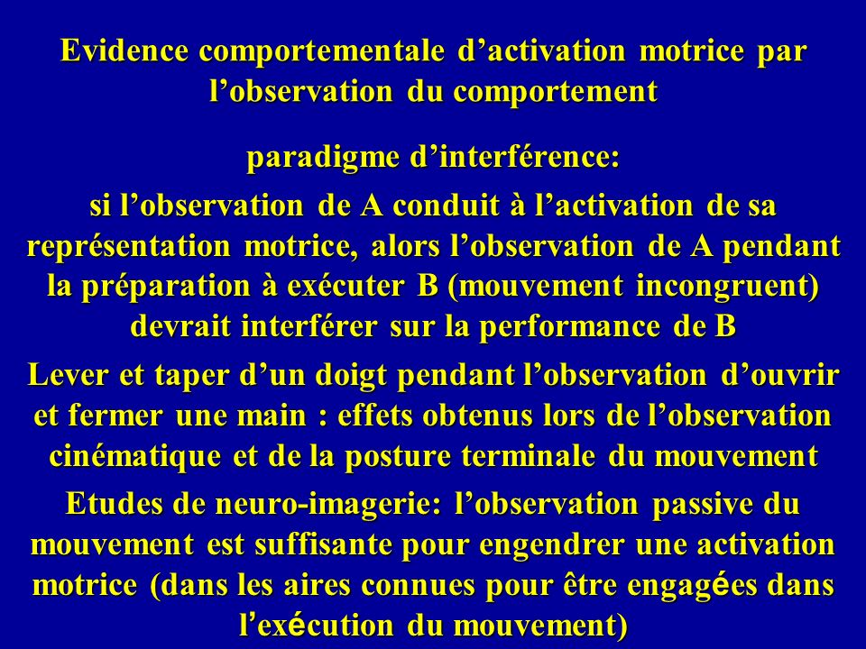 paradigme d'interférence:
