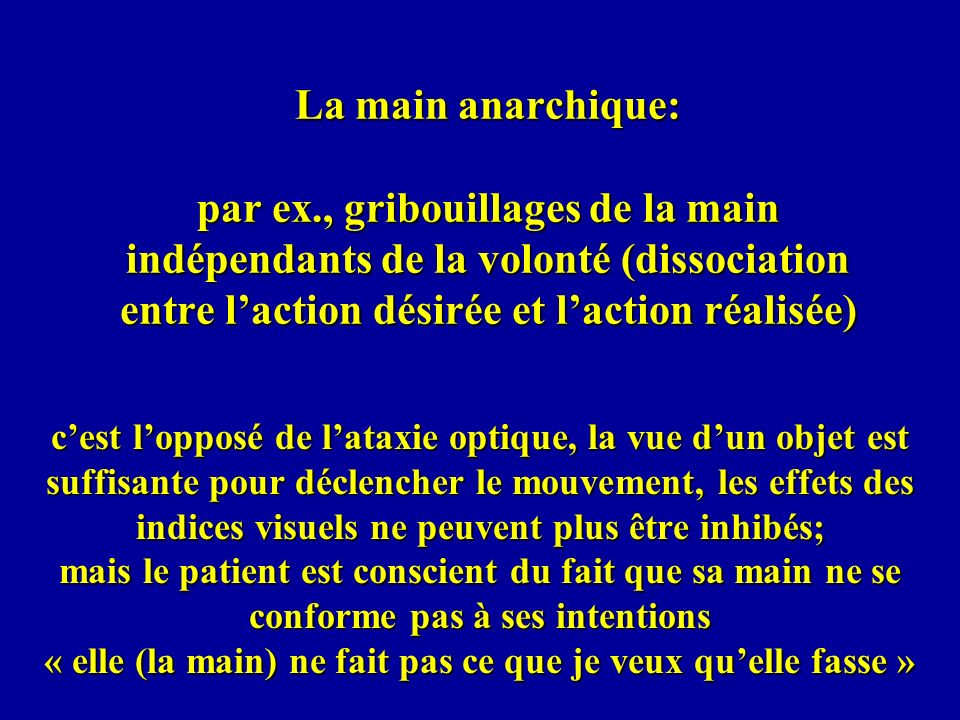 La main anarchique: par ex