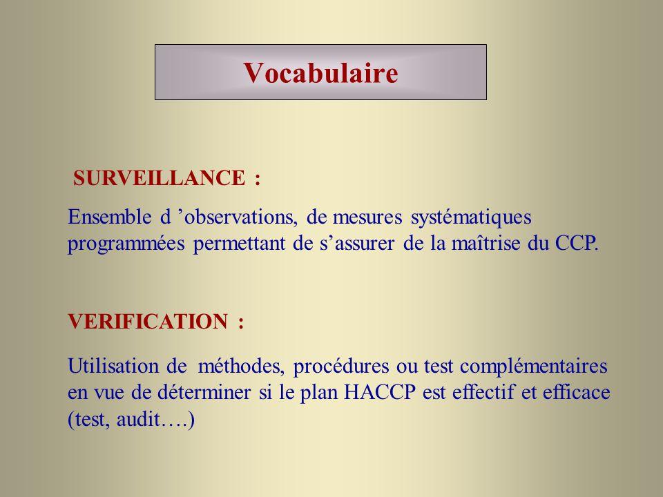 Vocabulaire SURVEILLANCE :