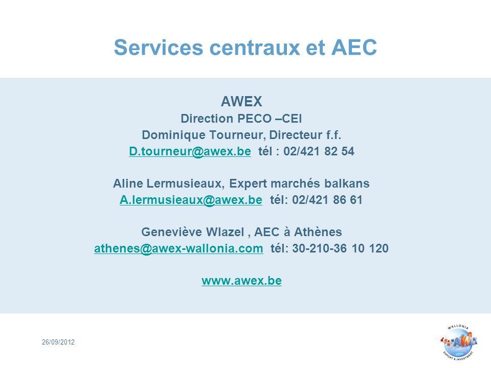 Services centraux et AEC