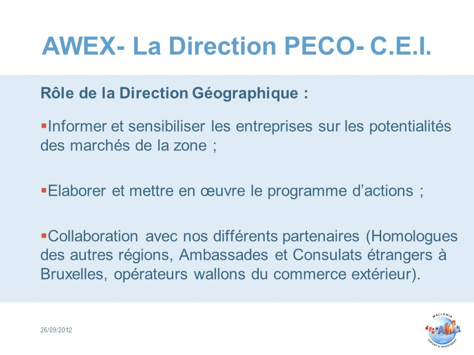 AWEX- La Direction PECO- C.E.I.