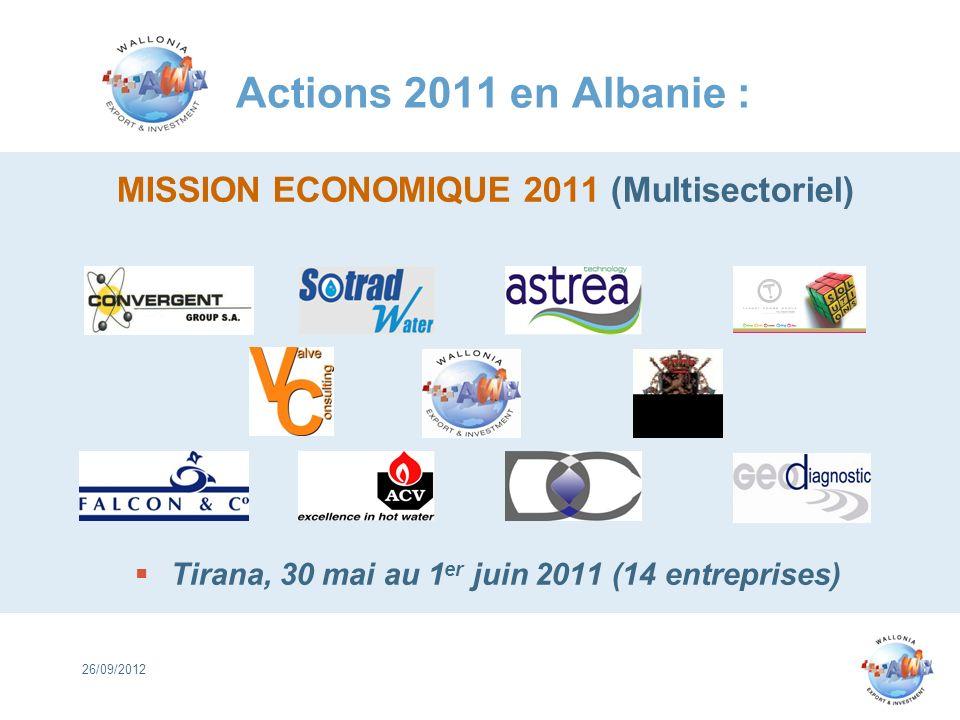 Tirana, 30 mai au 1er juin 2011 (14 entreprises)
