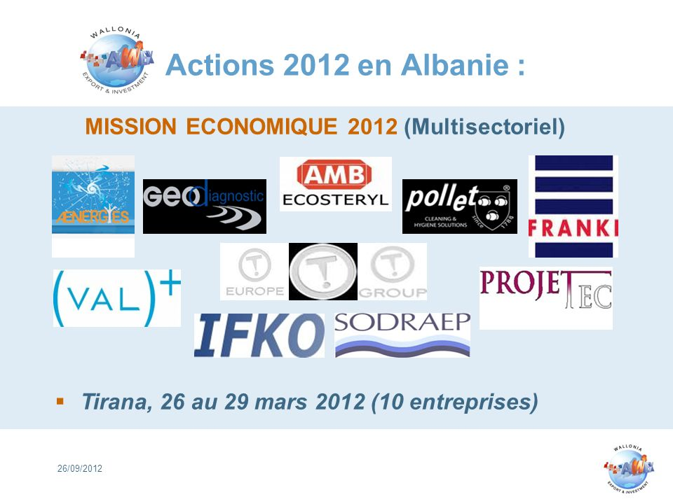 MISSION ECONOMIQUE 2012 (Multisectoriel)