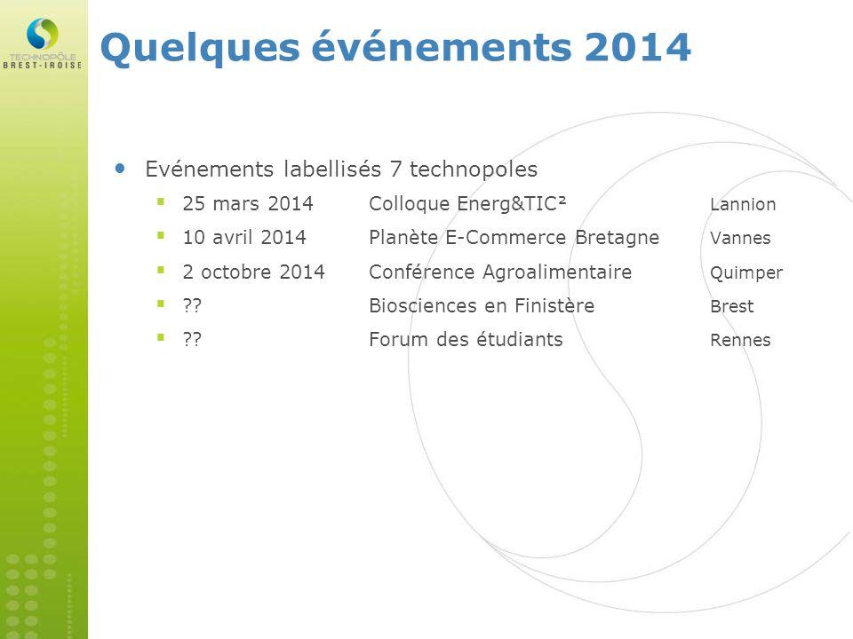 Quelques événements 2014 Evénements labellisés 7 technopoles
