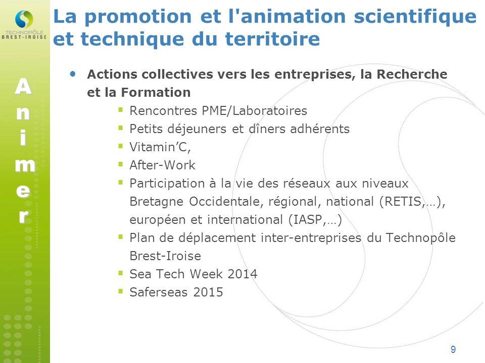 La promotion et l animation scientifique et technique du territoire