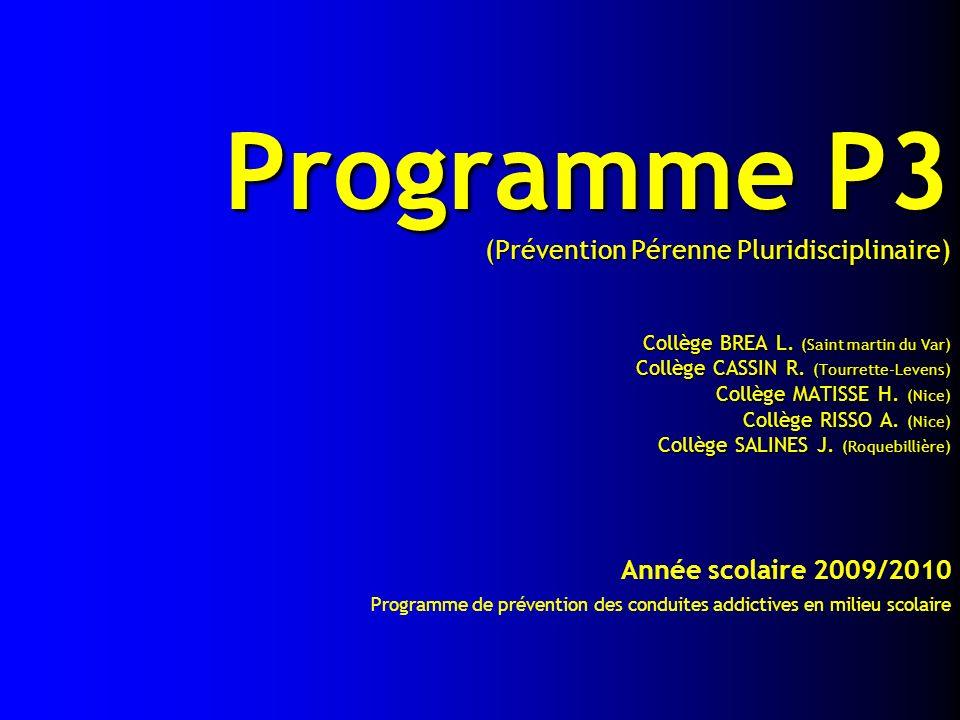 Programme P3 (Prévention Pérenne Pluridisciplinaire) Collège BREA L